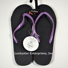 81733f50e Chatties Rubber Zorie Flip Flops - Black Purple - Size 9 10 -  7.90