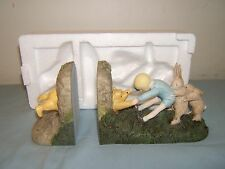 Classic Winnie The Pooh Mini Bookends Wedged Bear Michel & Company Unused!