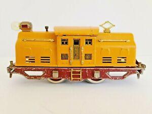 Lionel Lines 250 Electric Locomotive, Yellow/Terra-Cotta, Prewar, 1938