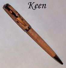 dm - Keen Handcrafted Handmade Wormy Walnut Graduate Chrome Twist Pen