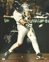 Mike Piazza Signed 16 x 20 New York Mets Photo 9/11 Home Run PSA DNA COA Swing
