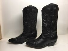 VTG MENS FINAL TOUCH COWBOY BLACK BOOTS SIZE 9