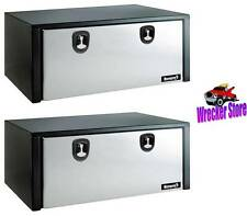 Qty. 2, 18 x 18 x 48 Under Body Tool Box, Stainless Door Rollback, Flat Bed
