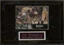 AUTOGRAPHED - JIM MARSHALL CARD - 2 AUTOS FRONT & BACK