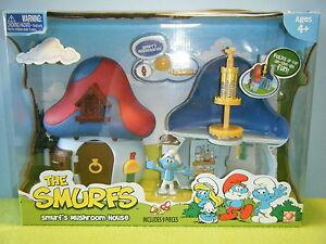 SMURF BLUE MUSHROOM HOUSE PLAYSET *NEW*