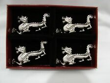 Rare Arthur Court Dragon Knife Rests 2000 in Original Box, Retired