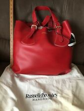 BNWT Stunning Red Leather Russell And Bromley Tote Handbag