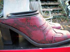 ZODIAC WOMEN'S RED/BLACK SNAKE PRINT MULE BOOTIE SIZE 6 NIB $149 NEVER WORN NEW