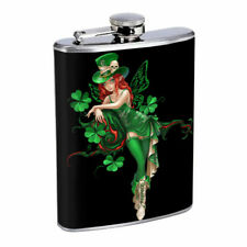 Minnesota Pin Up Girls D6 Flask 8oz Stainless Steel Hip Drinking Whiskey
