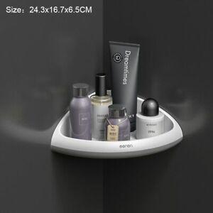 Bathroom Shelf Wall Mounted PE Rotatable Shampoo Cosmetic Storage Corner Racks