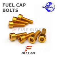 FRW Gold Fuel Cap Bolts Set For Kawasaki Ninja 300R 13-16 13 14 15 16