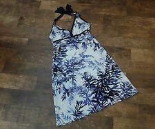TOMMY BAHAMA Stretch  FLORAL Sleeveless KNEE LENGTH Sun Dress WOMEN'S Size S