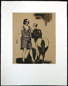 Grosse Radierung mit Chiné-colle (1971) Adolf FROHNER (1934-2007 A) handsigniert