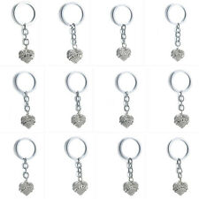 Delicate Hipster Unisex English Letters Family Hear Rhinestone Keychain Key Ring