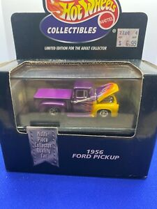 Hot Wheels 100% Collectibles 1956 Ford Pickup Truck Purple   with Real Riders