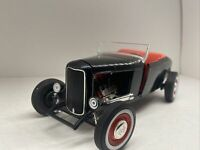1:18 Scale American Muscle Black 1932 Ford Deuce Hot Rod Diecast By Ertl