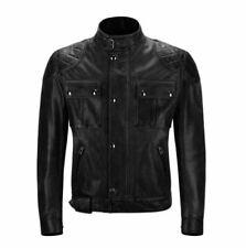 "Belstaff Brooklands ""Mojave"" Leather Blouson Jacket - Antique Black - Size Large"