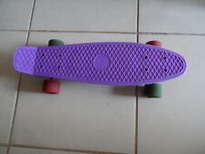 Purple Penny Skateboard With Red & Green Wheels Good Condition