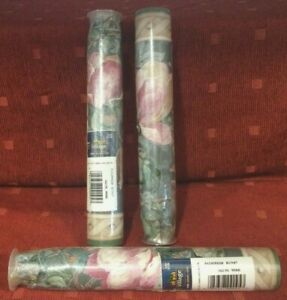 "3 x  15 ft Roll Village Wallpaper Border Floral Decorative Edge 10.2"" Wide"