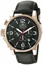 NEW!! Invicta 20138 Men's I-Force Lefty Chronograph Black Leather Watch