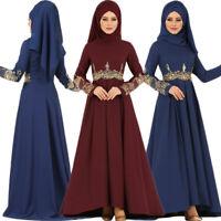 Muslim Women Maxi Dress Kaftan Jilbab Dubai Prayer Arab Robe Islamic Clothes New
