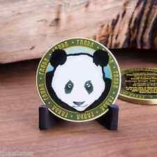 "PANDA ANIMAL WILFLIFE FACTS 1.75"" CHALLENGE COIN"