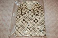 Pyjama vintage Garçon 10 ans viscose et coton,beige et motis
