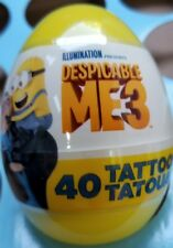 Despicable Me 3 40ct Tattoos Easter Egg Yellow New