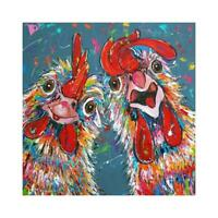5D DIY Full Drill Diamond Painting Rooster Hen Cross Stitch Embroidery Kit R1BO