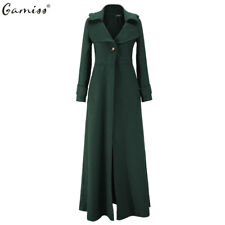 Vintage Womens Steampunk Full Length Goth Long Trench Coat Jacket Blazer Suits
