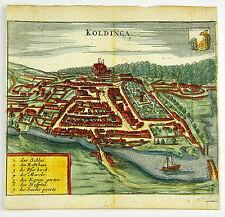 KOLDING DÄNEMARK SKANDINAVIEN KOL KUPFERSTICH ANSICHT ZEILLER MERIAN 1656 #D863S