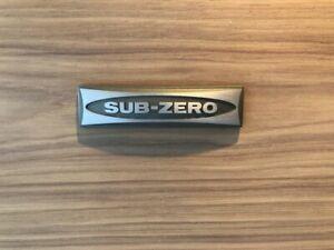 1SubZero Sub Zero Sub-Zero Refrigerator Freezer Nameplate Emblem Decal USA Made
