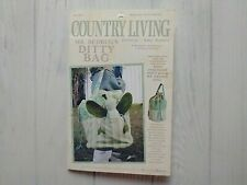 Country Living Kid's Overnight Travel Ditty Bag & Mr. Bedbug Doll Pattern Butler