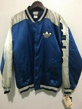 NWT  Vintage 80's ADIDAS x RUN DMC Bomber Varsity Jacket Blue White Large L
