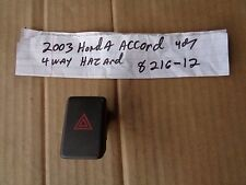 2003 honda accord 4dr sed 4way hazard switch button emergency flasher 03 2002