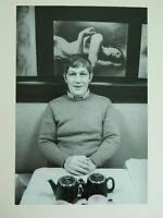 Vintage Foto Original Yvette Troispoux Retrato Gres Fino Paño Fechado Graduado