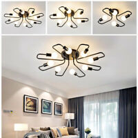 4/6/8 Head Industrial Iron Pendant Chandelier Steampunk Lamp LED Ceiling  New