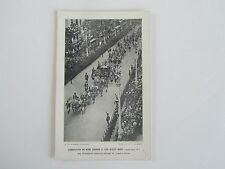 1911 Real Photo Queen Mary/King George V Coronation, St. James St, Faulkner Co