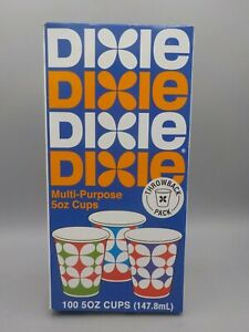 Limited Ed. Dixie Throw Back 1960's Petal Design 5 Oz Paper Cups Unopened 100