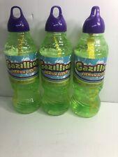 Gazillion Bubbles 1 Liter Bubble Solution 3 Liters Total NEW Lot Of 3