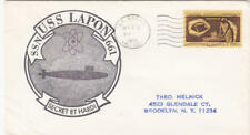 US Naval Ship Cancel black Cachet Cover USS Lapon SSN-661 Submarine 1973