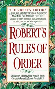 Roberts Rules of Order: A Simplified, Updated Ver