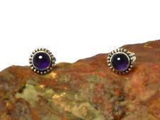 Round AMETHYST   Sterling  Silver  925  Gemstone  Earrings / STUDS   -  5 mm