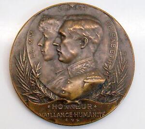1916 King Albert & Queen Elizabeth Russian Our Lady Antwerp Bronze Medal