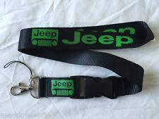 Jeep Lanyard NEW Black Green  - UK Seller - Car Keyring ID Holder Phone Strap