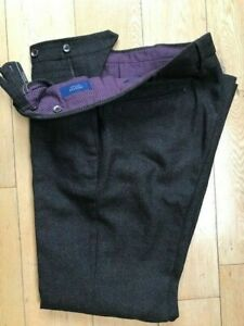 Incotex (Slow Wear) Brown Wool Slim Fit Trousers size 32 waist