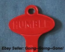 VINTAGE HUMBLE OIL CO KEY BLANK FORD LINCOLN MERCURY EDSEL 1958-1966 1127DU RED