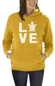 I Love Turtles - Animal Lover Turtle Print Cute Women Hoodie Novelty Gift Idea