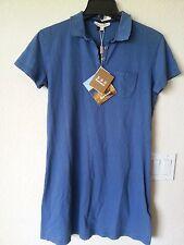 NEW BARBOUR  POLO SHIRT DRESS SHORT SLEEVE BLUE Sz 8 US