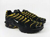Nike Air Max Plus GS Shoes Black Vivid Sulfur Youth Sz 5.5Y = Women's Sz 7 NEW